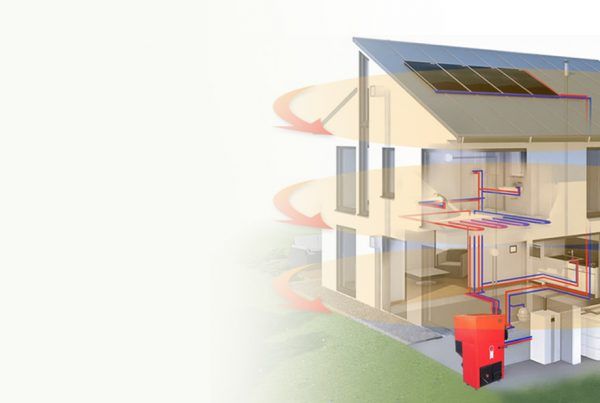 home met duurzaam verwarmen en biodom pelletketel