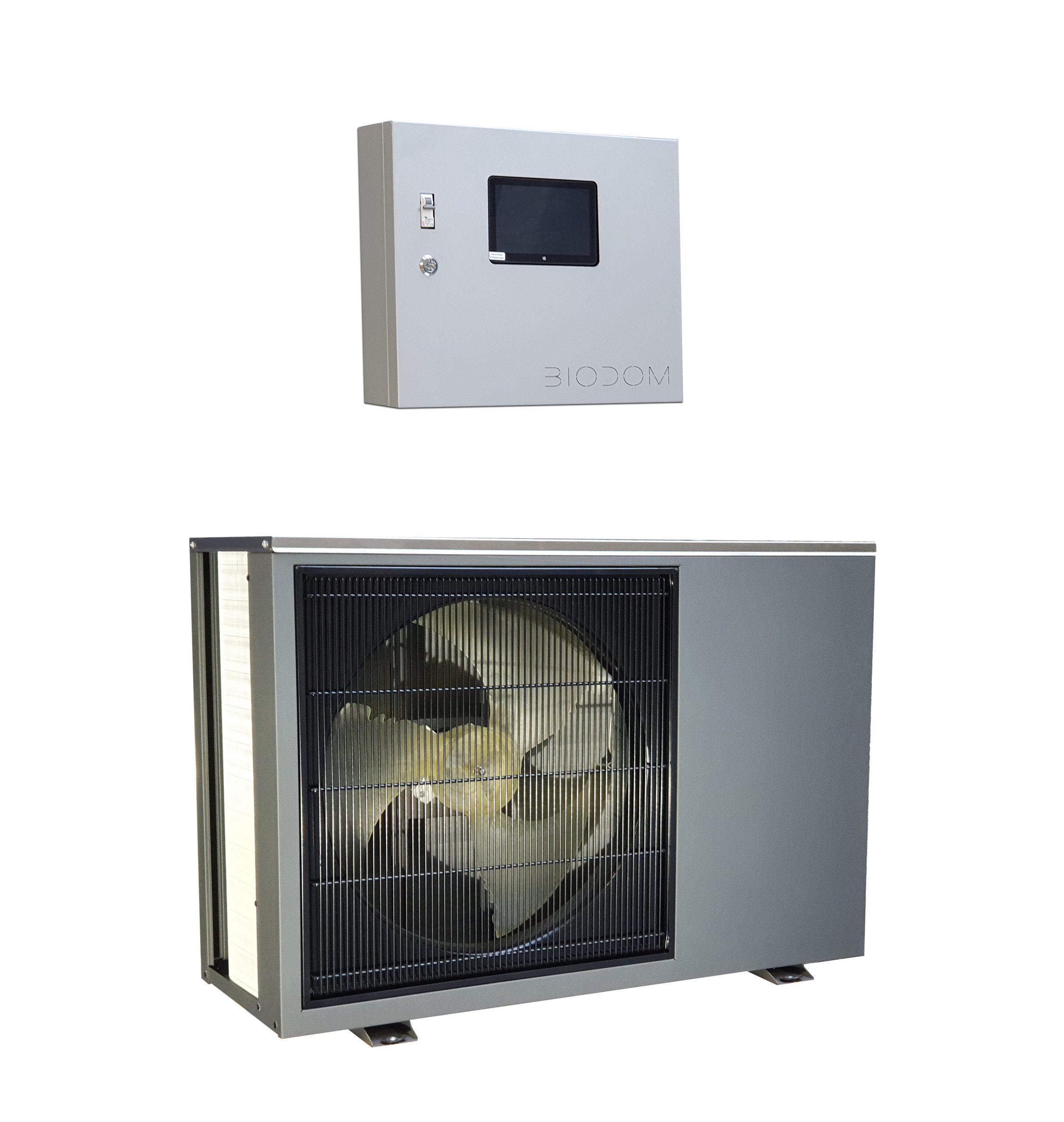 Biodom warmtepomp met controller