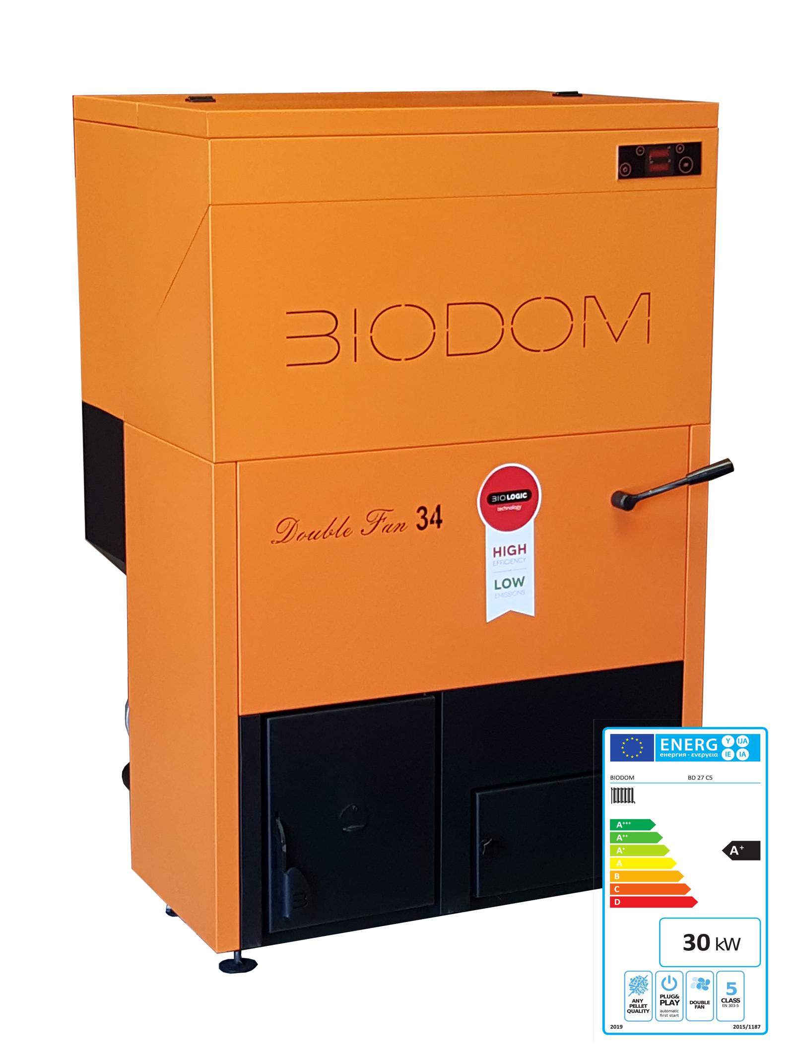 Pelletketel Biodom 27-C5 met energielabel